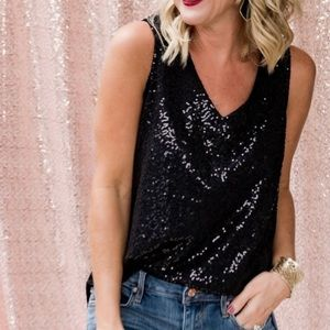 Gibson Sequin Glam Tank Top